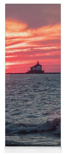 Ashtabula Ohio Lighthouse At Sunset  Yoga Mat