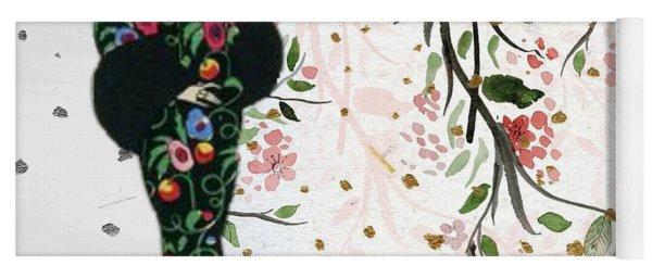 Asian Art Deco Beauty Yoga Mat