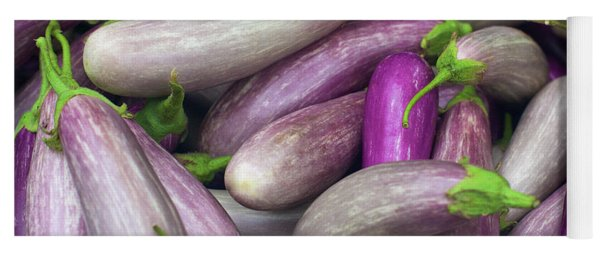 Asian Eggplants Yoga Mat