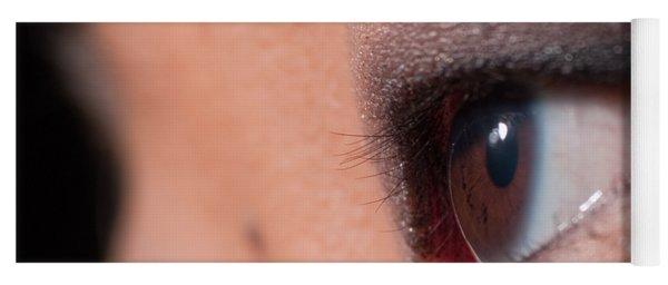 Asian Girl Eyes 1283053 Yoga Mat