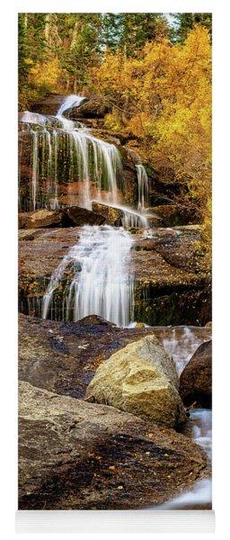 Aspen-lined Waterfalls Yoga Mat