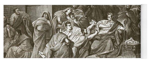 Assassination Of Julius Caesar Yoga Mat