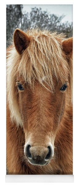 Assateague Island Horse Miekes Noelani Yoga Mat