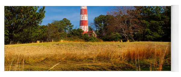 Assateague Lighthouse Reflection Yoga Mat
