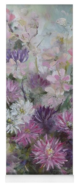 Asters And Stocks Yoga Mat