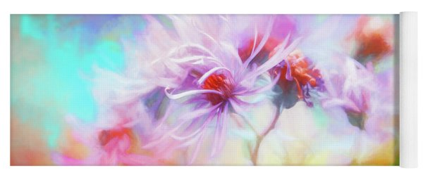 Asters Gone Wild Yoga Mat