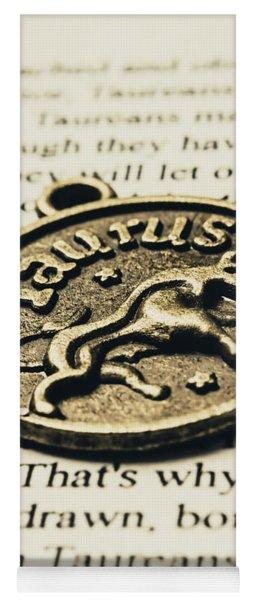 Astrological Definition In Taurus Yoga Mat