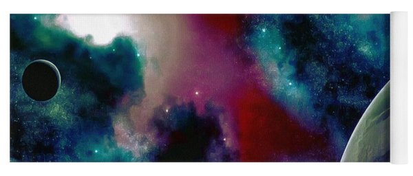 Astronomy Painting Glammed Out Teal Yoga Mat