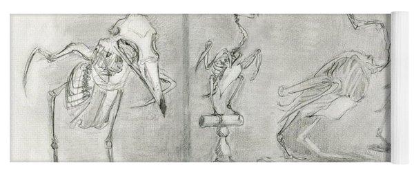 Bird Skeletons Yoga Mat