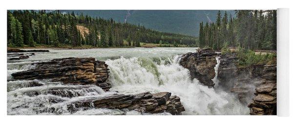 Athabasca Falls II Yoga Mat
