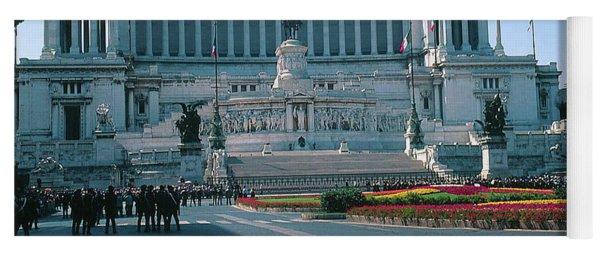 Italian National Monument In Rome To King Victor Emmanuel II In Piazza Venezia, Rome Yoga Mat