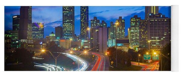 Atlanta Downtown By Night Yoga Mat