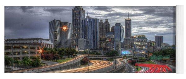 Atlanta Lights Up Downtown I-75 I-85 Yoga Mat