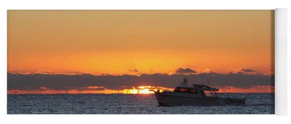 Atlantic Ocean Fishing At Sunrise Yoga Mat