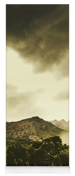 Atmospheric Hills And Valleys Yoga Mat