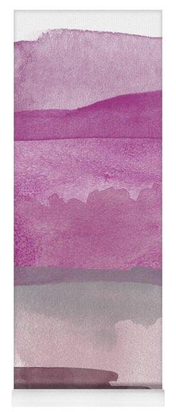 Aubergine Wash- Art By Linda Woods Yoga Mat