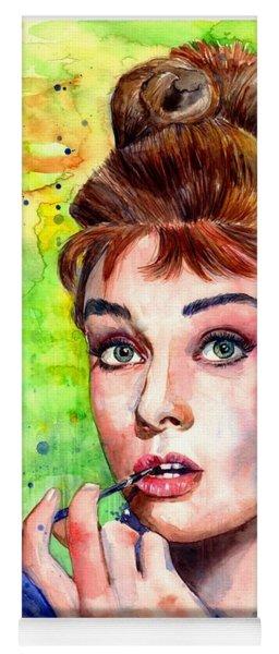 Audrey Hepburn Watercolor Yoga Mat