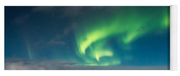 Aurora Borealis Yoga Mat