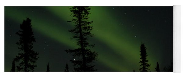 Aurora Borealis The Northern Lights Interior Alaska Yoga Mat
