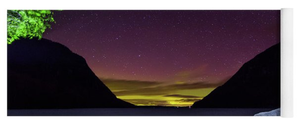 Aurora Over Lake Willoughby Yoga Mat