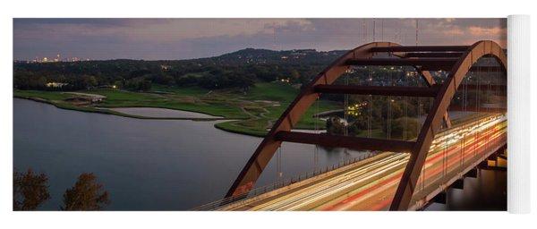 Austin 360 Bridge At Night Yoga Mat
