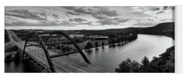 Yoga Mat featuring the photograph Austin 360 Pennybacker Bridge Sunset by Todd Aaron