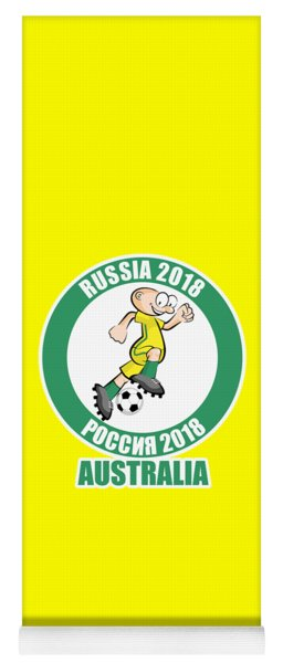 Australia In The Soccer World Cup Russia 2018 Yoga Mat