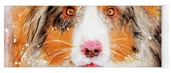 Australian Shepherd Paintings Yoga Mat