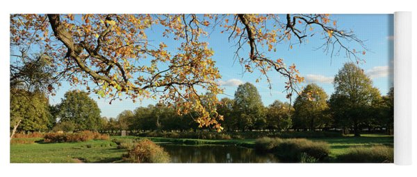 Autum At Bushy Park London Yoga Mat