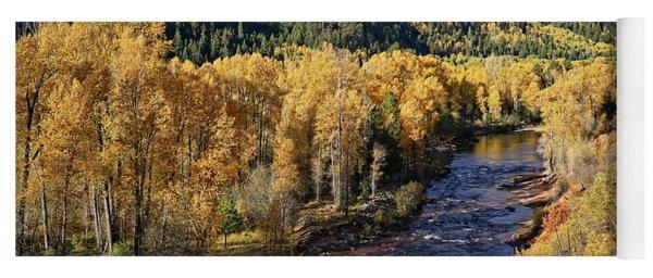 Autumn Along The River I Yoga Mat