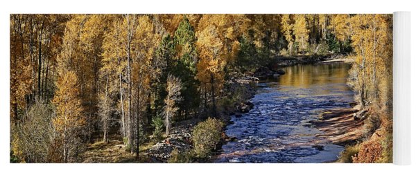 Autumn Along The River II Yoga Mat
