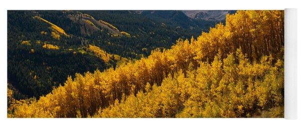 Yoga Mat featuring the photograph Autumn Aspen Near Castle Creek by Cascade Colors