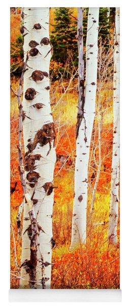Autumn Aspens Yoga Mat