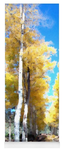 Autumn Aspens Yoga Mat