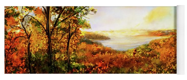 Autumn At Beaver Lake -beaver Lake Art Yoga Mat