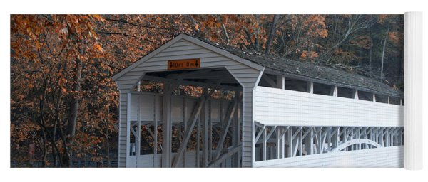 Autumn At Knox Covered Bridge In Valley Forge Yoga Mat