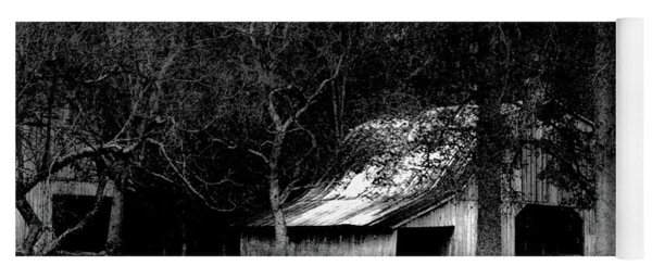Autumn Barn In Alabama Bw Yoga Mat