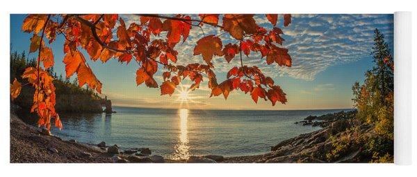 Autumn Bay Near Shovel Point Yoga Mat