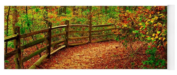 Autumn Bend - Allaire State Park Yoga Mat