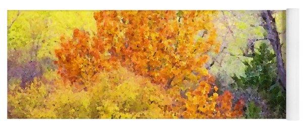 Autumn Blaze  Yoga Mat