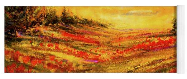 Autumn Burst - Autumn Foliage Colorful Art Yoga Mat