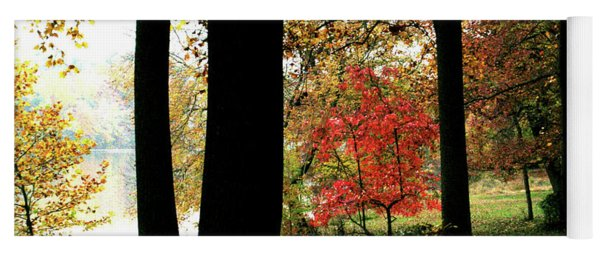 Autumn By The Lake Yoga Mat