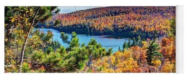 Autumn Colors Overlooking Lax Lake Tettegouche State Park II Yoga Mat