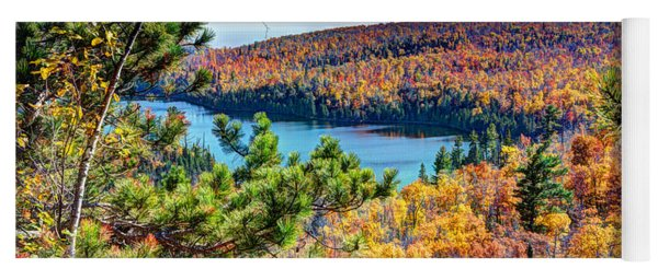Autumn Colors Overlooking Lax Lake Tettegouche State Park II Yoga Mat