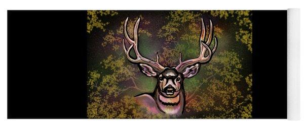 Autumn Deer Abstract Yoga Mat