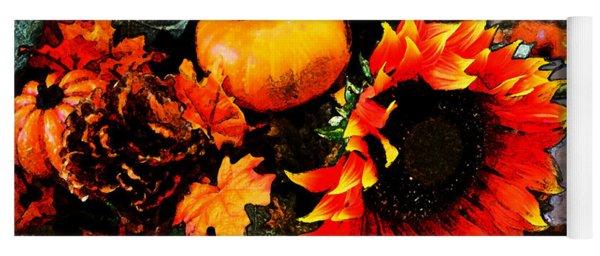 Autumn Flowers Yoga Mat