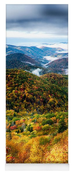 Autumn Foliage On Blue Ridge Parkway Near Maggie Valley North Ca Yoga Mat