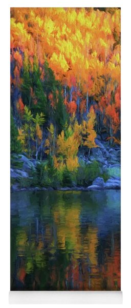 Autumn Foliage Reflection Bear Lake Yoga Mat