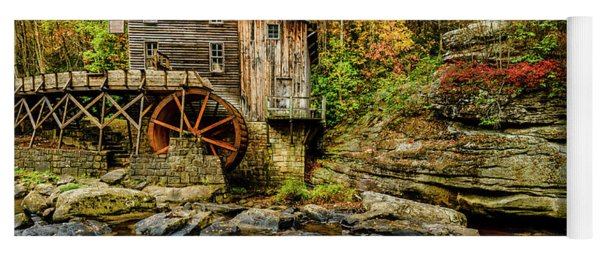Autumn Glade Creek Grist Mill  Yoga Mat