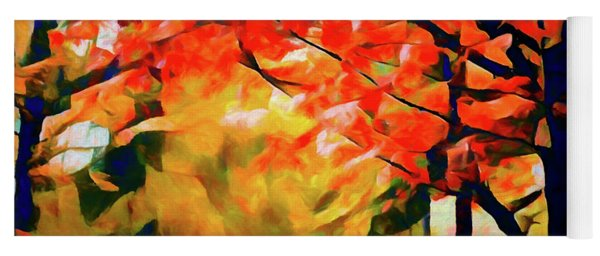 Glorious Foliage On The Rail Trail - Abstract Yoga Mat
